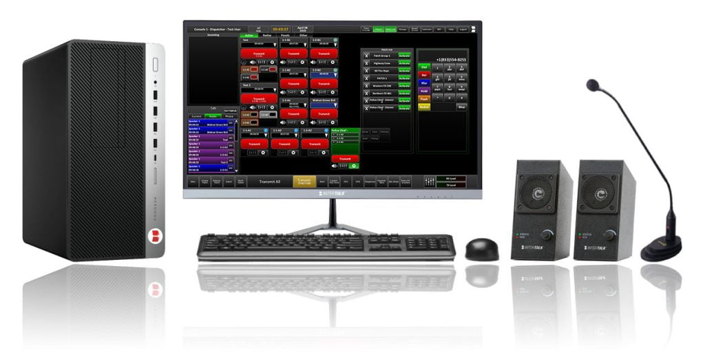 Integrated dispatch control console system